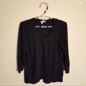 4/$25 Halogen from Nordstrom black cardigan medium